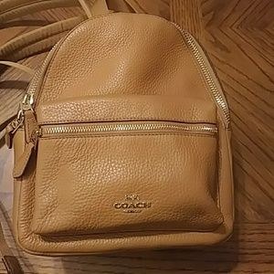 COACH MINI CHARLIE BACKPACK (F28995)  LIGHT SADDLE
